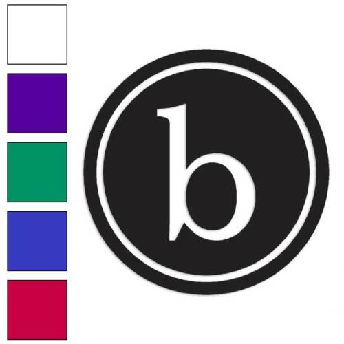Typewriter Font B Initial Decal Sticker Choose Color Size #3264