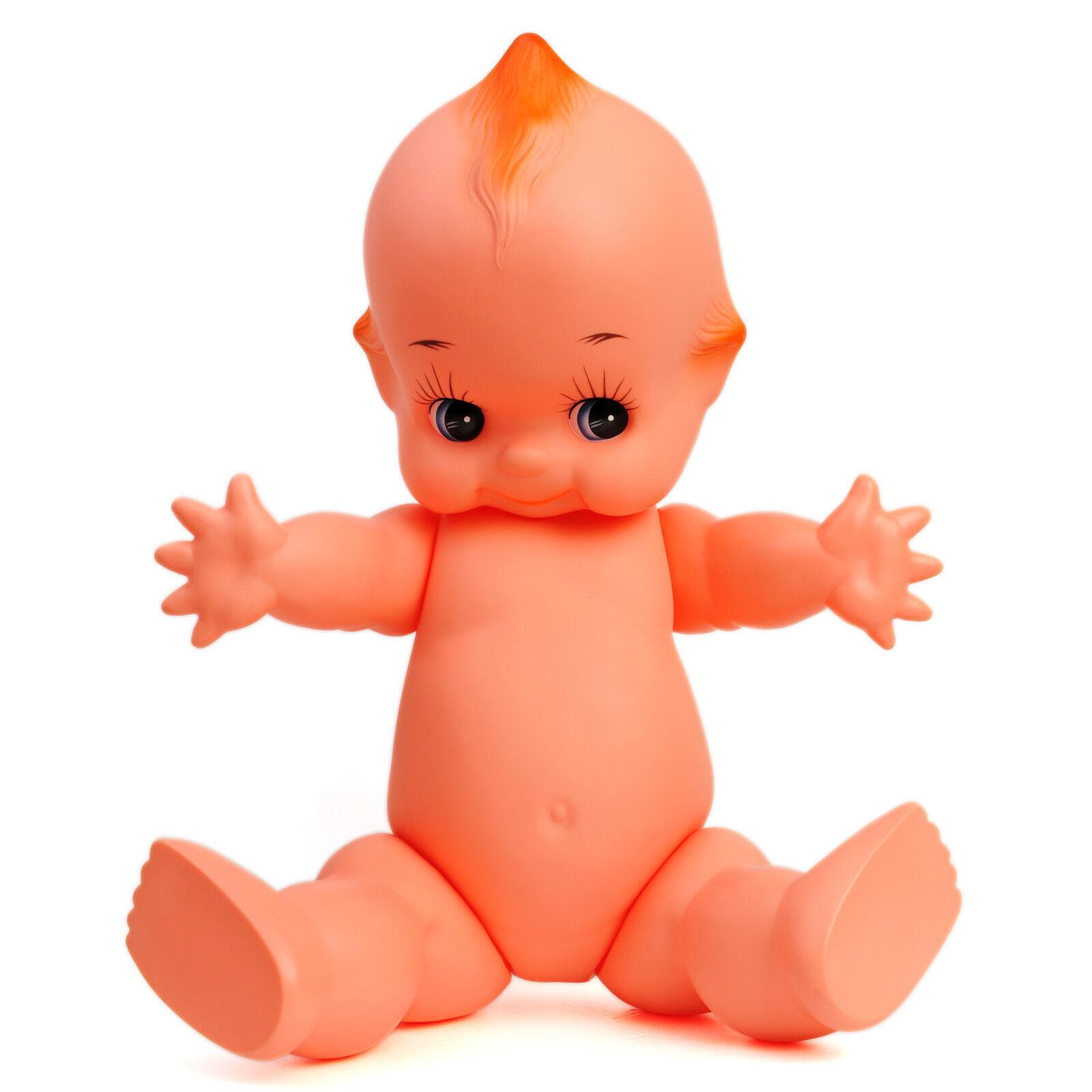 Cabeza grande Antiguo Vinilo Baby Dolls Kewpie Alas de ángel grandes composición alto 24