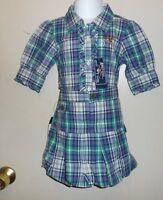 American Living Girls Plaid Adjustable Waist Bubble Skirt & Blouse Set Six (6)