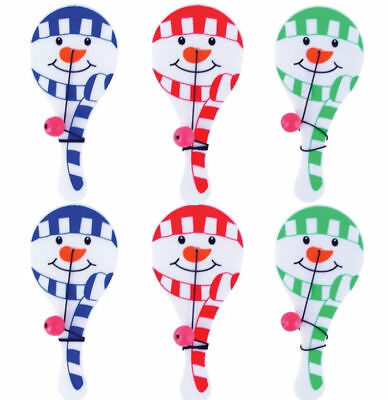 Party Bag Fillers Stocking Gift Wooden DINOSAUR Paddle Bat and Ball