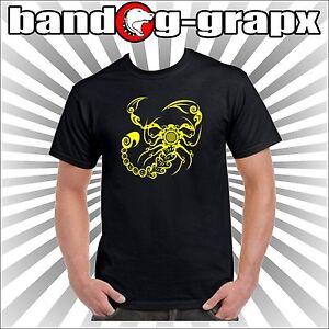 Nera T Scorpion Scorpione Shirt Zodiacale Segno Giallo EDHI9W2