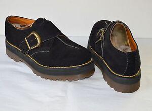 f964f16f474 Vintage 90 s Doc Martens Dr Black Suede Platform Shoes Made in ...