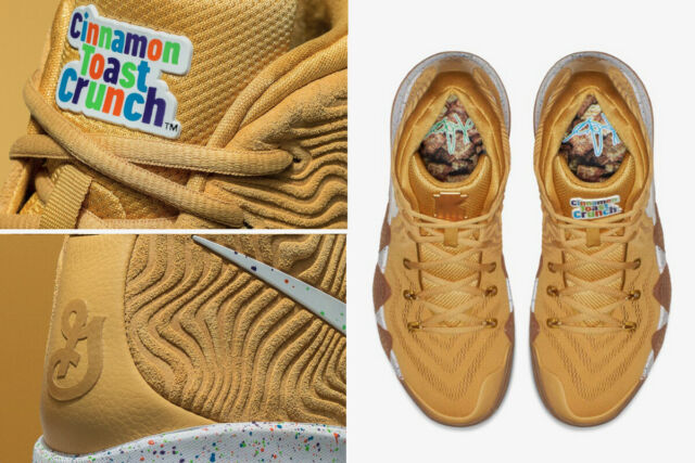innovative design 6eb30 c278b Kyrie 4 Size 9 Mens Nike General Mills Cinnamon Toast Crunch Kyrie4 No  Boxtop