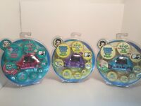 Lot Of 3 Pixel Chix Road Trippin' Interactive Beetle Cars 2005 Pink Purple Blue