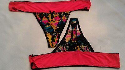 WOMENS panties plus Thong tanga size 3X,4X PINK ON pink trim D7
