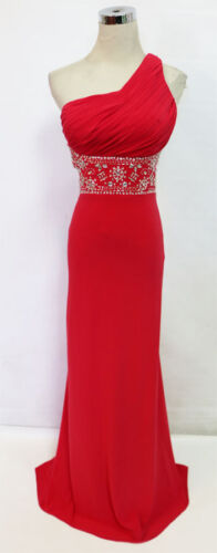 BLONDIE NITES Red Prom Formal Evening Gown 7 $190 NWT