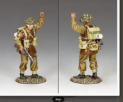 Bbb007 Battle Of Bulge Ww2 British Soldier Signalling Halt / Stop! Bbb07