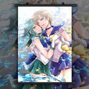 Sailor Moon Tenou Haruka Kaiou Michiru Wallscroll Poster Kunstdrucke Bider Druck
