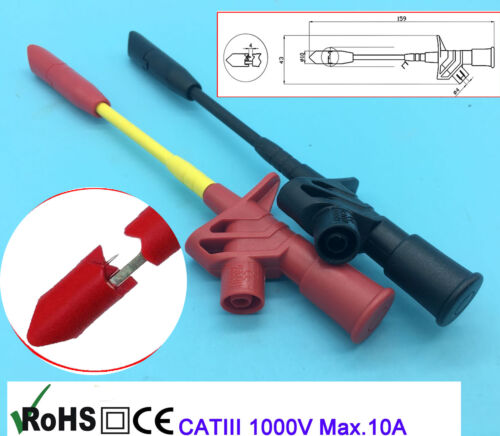 Test Hook Clip Grabbers Leads /& Probes For Multimeter Arduino SMT SMD car repair