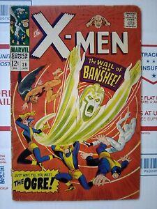 X-men-28-1967-034-WAIL-of-the-BANSHEE-034-NICE-Marvel-Comic-xmen-x-men-28-JAN-1967
