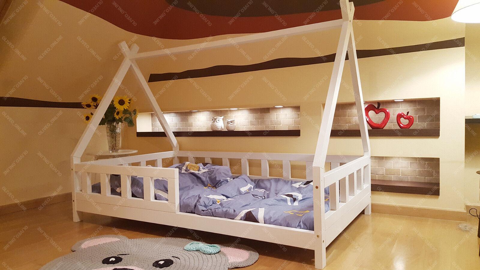 Tipi Lit pour enfants, enfants lit, jouer lit, enfants lit maison, Tente Indienne, Bois