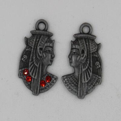 10//20pcs Retro style portrait Charm Pendant DIY Jewellery crafts 29x17mm