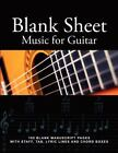 Blank Sheet Music for Guitar : 100 Blank Manuscript Pages with Staff, TAB, Lyric Lines and Chord Boxes by J. Jones (2012, Paperback)