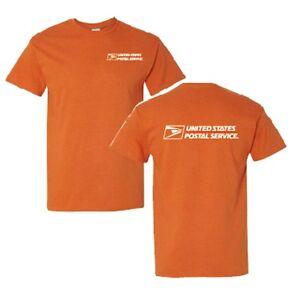 Usps postal t shirt texas orange 2 color postal logo on for Usps t shirt shipping