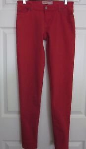 Judy-Blue-Women-039-s-Juniors-Bright-Red-Denim-Skinny-Stretch-Jeans-Tag-Size-1