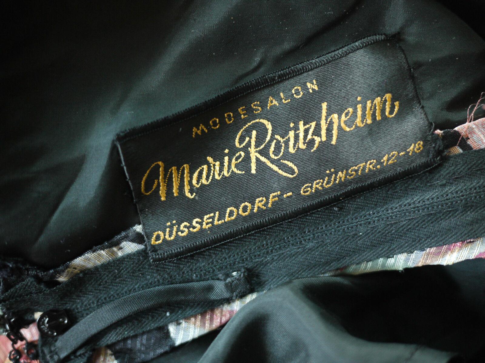 MODESALON Marie Roitzheim DÜSSELDORF Maxi Maxi Maxi Kleid bluemen 70er TRUE VINTAGE 70's 6cc74c