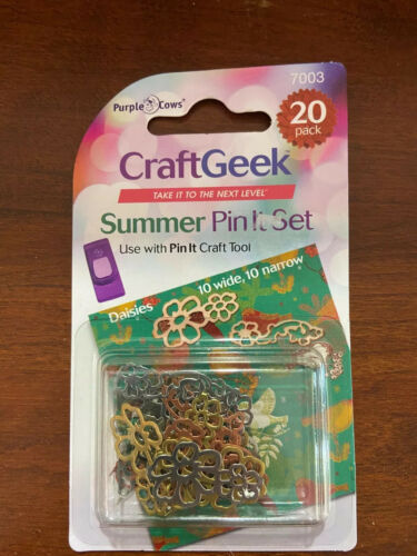 Purple Cows CRAFT GEEK Metal Pins Spring NEW Summer and Solstice pin it set