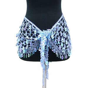 Belly-Dancing-Hip-Wrap-Peacock-Sequins-Triangle