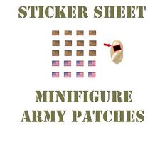 US Flag sticker (W273) decals for toy Army and Swat Brick Minifigures