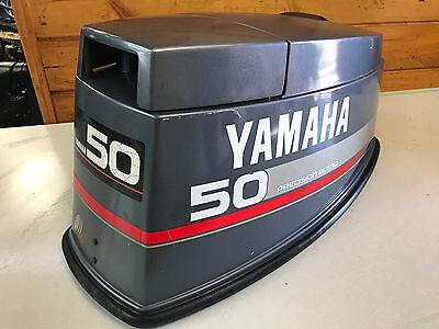 97 Yamaha 40 50 Hp 2 Stroke Outboard Motor Top Cowl Cover Hood Freshwater Mn Ebay