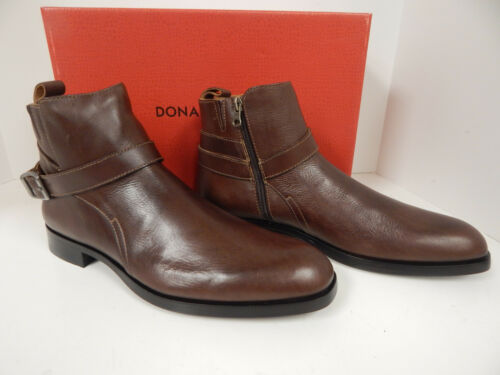 Donald J Pliner Zaccaro-01 Ankle Boots Brown Calf w// Zipper and Buckle on Side