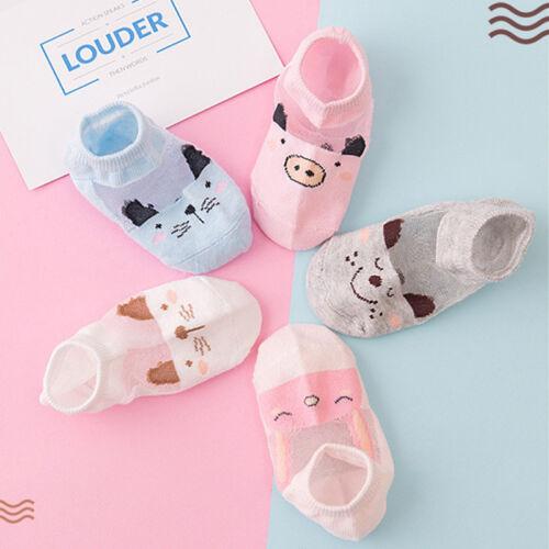 5 Pairs NewBorn Baby Boy Girl Cartoon Cotton Socks Infant Toddler Kids Cute Sock
