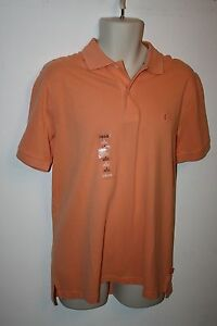 NEW-IZOD-Heritage-Polo-Mens-Size-M-Polo-Golf-Shirt-Short-Sleeve-Coral-NWT