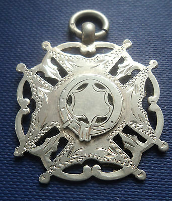 Attractive LARGE Silver Medal / Fob - 1900 - not engraved - William Hair Haseler