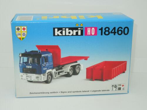 Kibri H0 18460 MAN LKW THW mit Container Neu