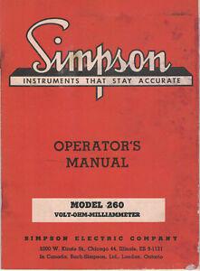 SIMPSON-Manual-260-VOLT-OHM-MILLIAMMETER