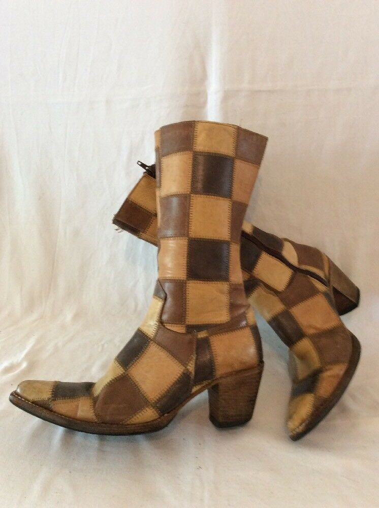 Dr. Adam's Brown Mid Calf Leather Boots Size 6