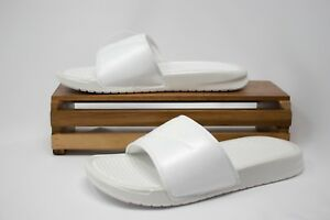 47f4c67df7e8cc Nike Benassi JDI Metallic QS Women s Metallic Summit White AA4149 ...