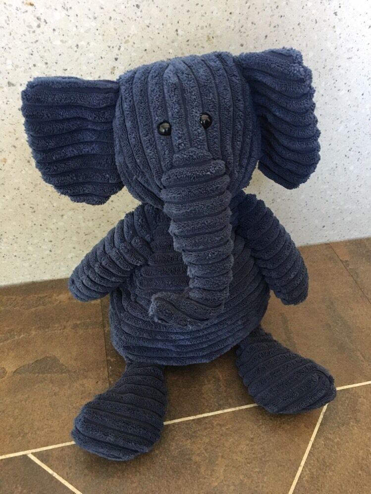 JELLYCAT I AM CORDY ROY ELEPHANT LARGE NAVY BABY SOFT HUG COMFORTER TOY