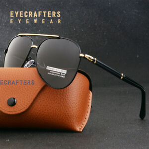 6bc57262304 Image is loading Men-Polarized-Sunglasses-Color-Metal-Retro-Frog-Mirror-
