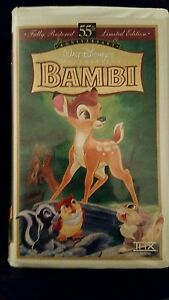 WALT-DISNEY-Bambi-55th-Anniversary-VHS-Masterpiece-Collection-9505