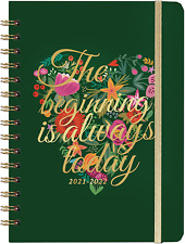 Daily Planner Calendar Organizer Refillable Monthly Tabs Back Pocket Hardcover