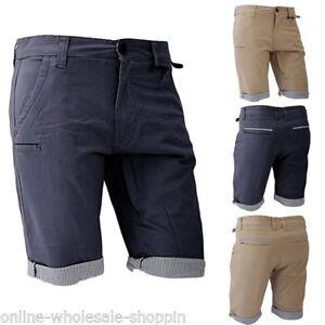 Para-Hombre-Brave-Soul-Cargo-Pantalones-Chino-Informal-De-Combate-Algodon-Pantalones-Cortos
