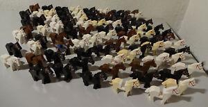 Lego 10 x Horses Knight Western Castle Knights Convolute Used KG J11