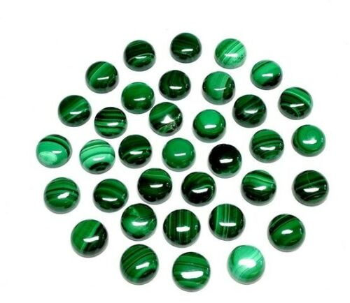 Great Lot Natural Malachite 7X7 mm Round Cabochon Loose Gemstone AD05