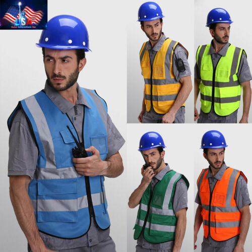Safety Security Visibility Reflective Vest Traffic Warehouse Construction Cloths