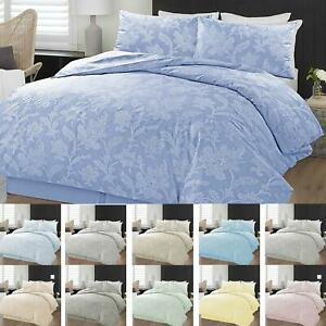 Chambray-Floral-Quilt-Duvet-Cover-Bedding-Set-Single-Double-Super-King-Sizes