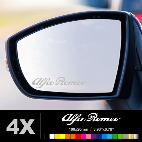 ALFA ROMEO WING MIRROR ETCHED GLASS CAR VINYL DECALS STICKERS SILVER ETCH