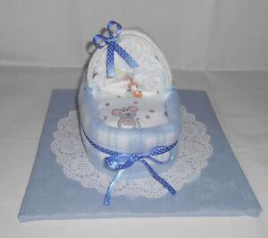 Geschenk Taufe Junge Mädchen rosa weiß blau grau Gastgeschenk Waschtuch Geburt