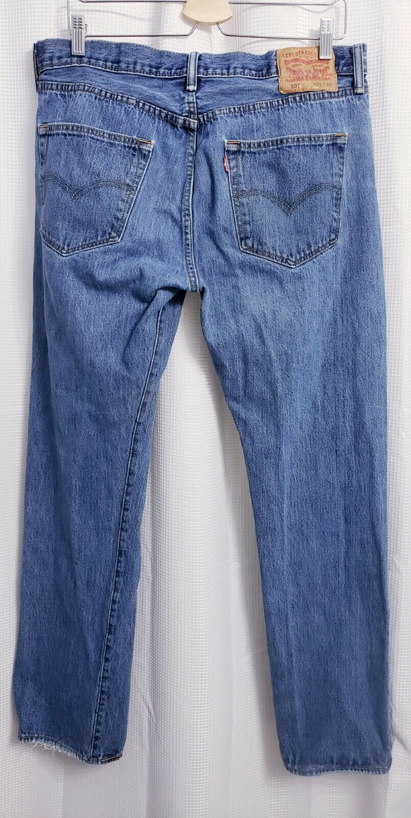 Levis 501 Original Fit Button Fly Distressed Jean… - image 4