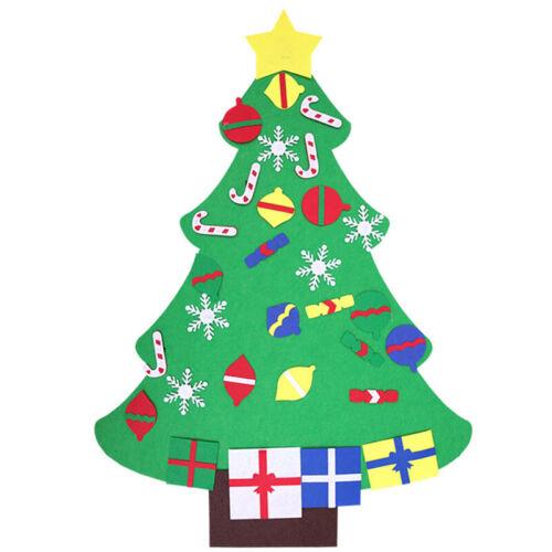 Felt DIY Christmas Tree Gifts for Children New Year Door Wall Hanging Decor