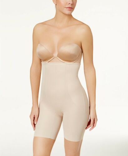 Miraclesuit Womens Firm Control Shaper High Waist Thigh Slimmer Beige XL NEW $75