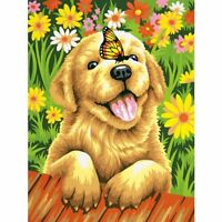 Dimensions Crafts Paintworks Paint By Number Kit, Puppy Gardener, New, Free Ship on sale