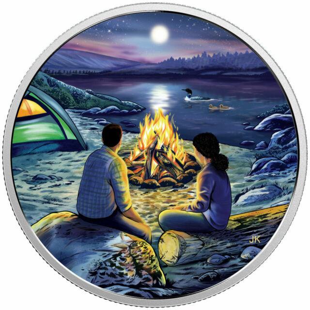 2017 Canada $15 Fine Silver Coin -  Around the Campfire
