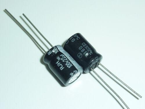 10pcs 22uF 100V ELNA RJH RJJ 8x11.5 100V22uF Low Impedance Audio Capacitor