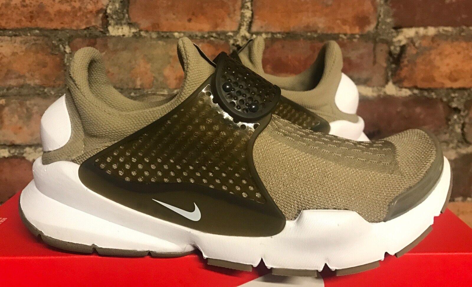 Nike Sock Dart Kjcrd UK7 EU41 EU41 EU41 US8 Khaki Bianco 819686 200 Scarpe Sportive fe982d